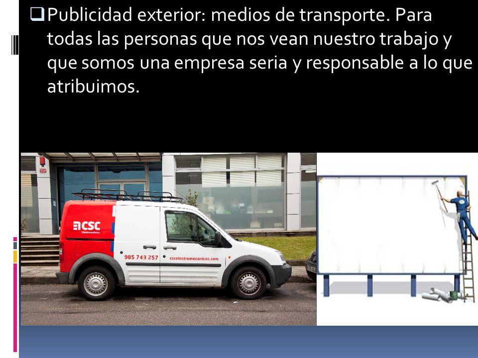 Publicidad exterior: medios de transporte