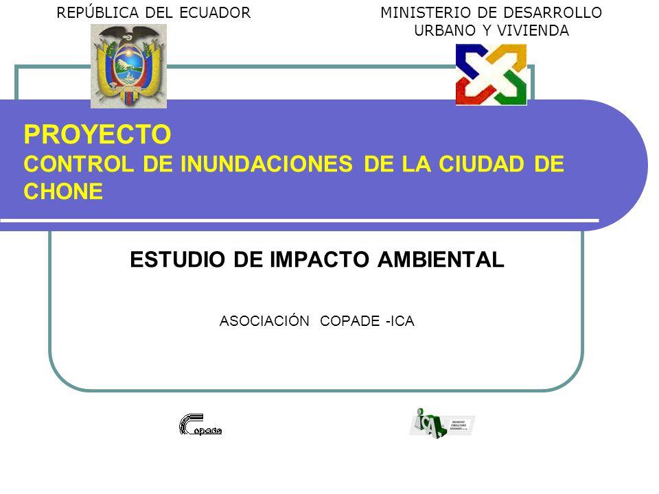 PROYECTO CONTROL DE INUNDACIONES DE LA CIUDAD DE CHONE