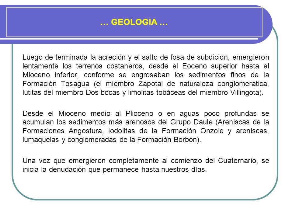 … GEOLOGIA …