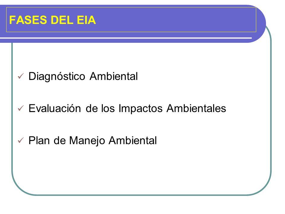 FASES DEL EIA Diagnóstico Ambiental