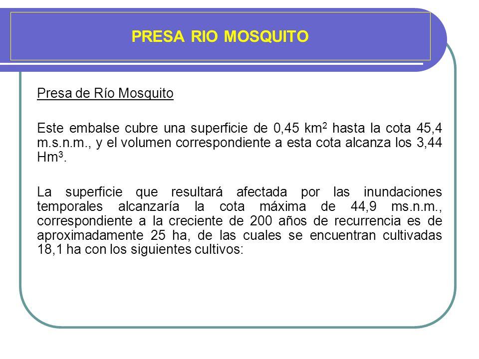 PRESA RIO MOSQUITO Presa de Río Mosquito