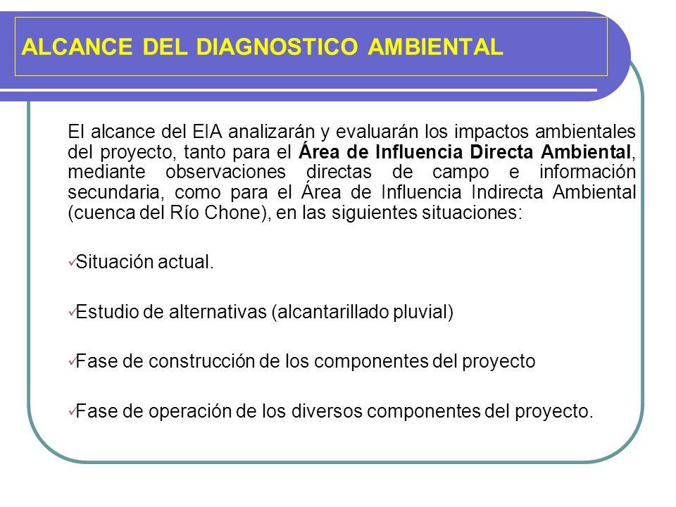 ALCANCE DEL DIAGNOSTICO AMBIENTAL