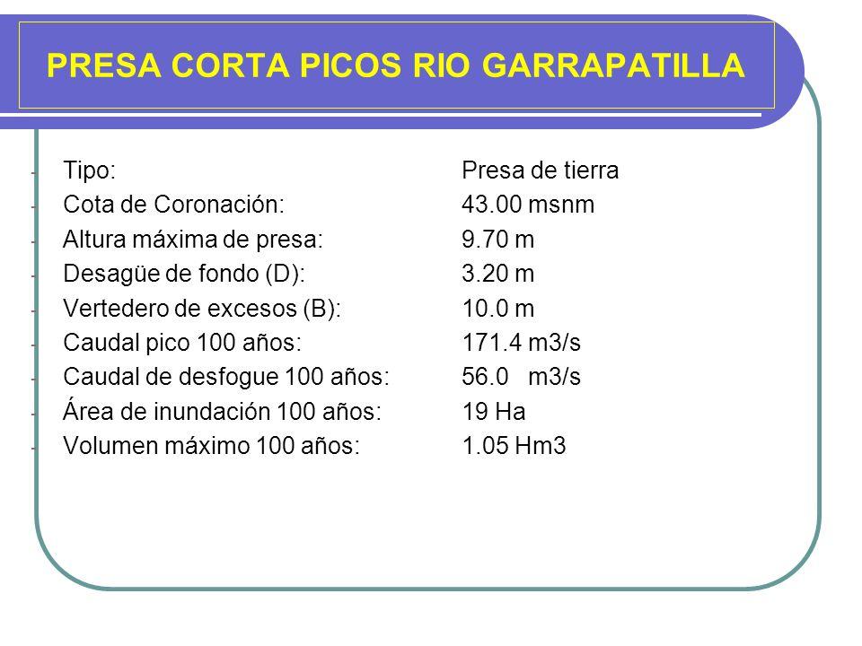 PRESA CORTA PICOS RIO GARRAPATILLA