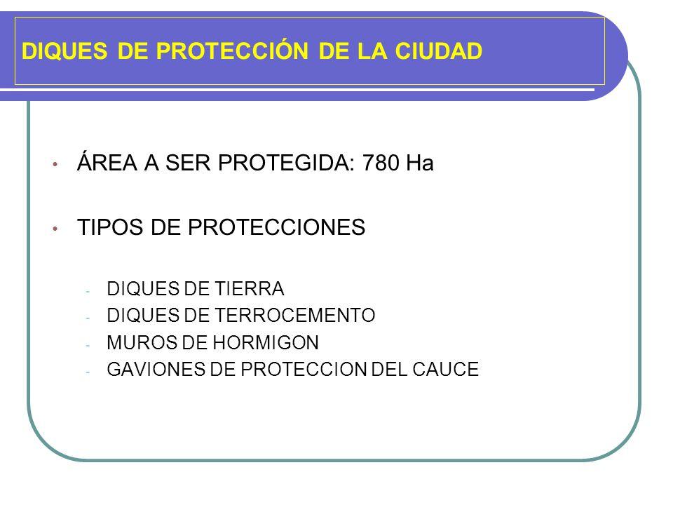 DIQUES DE PROTECCIÓN DE LA CIUDAD