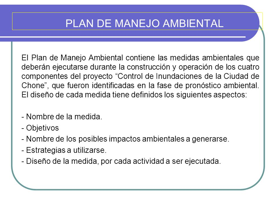 PLAN DE MANEJO AMBIENTAL