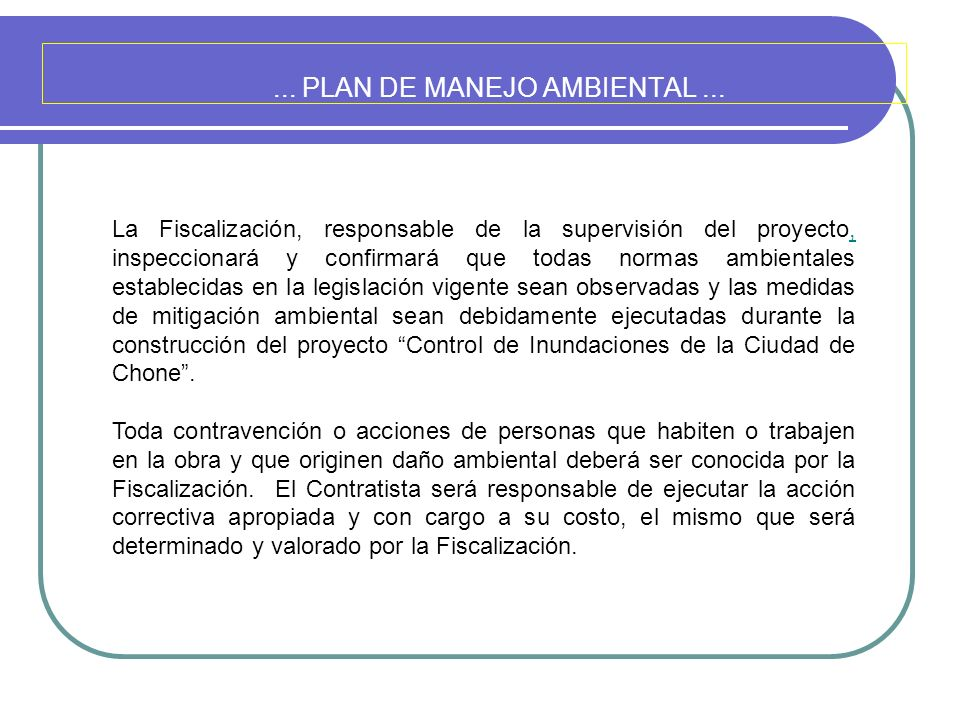 ... PLAN DE MANEJO AMBIENTAL ...