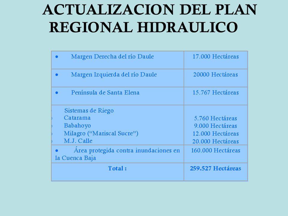 ACTUALIZACION DEL PLAN REGIONAL HIDRAULICO
