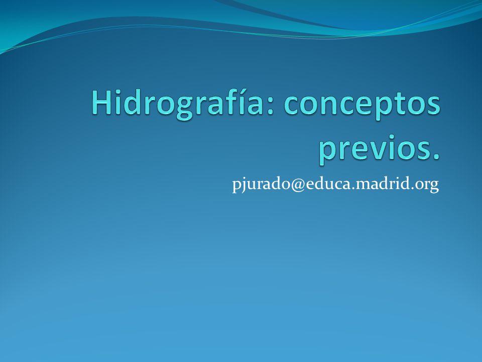 Hidrografía: conceptos previos.