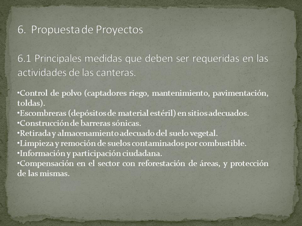 6. Propuesta de Proyectos