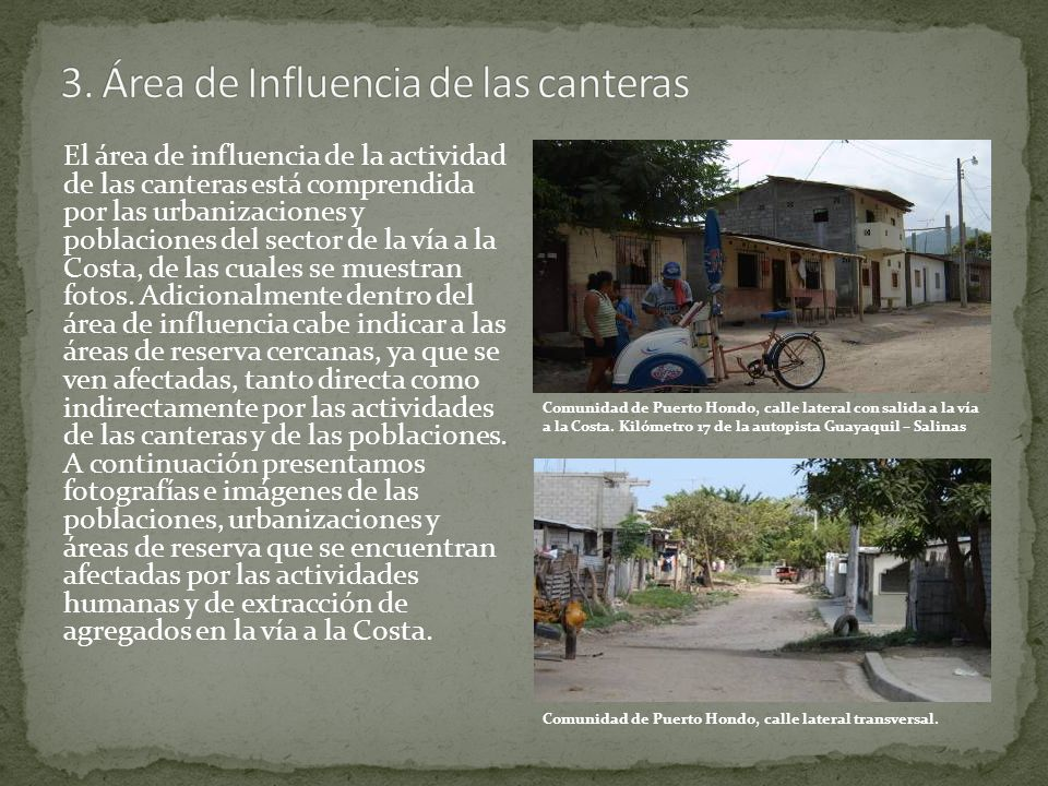 3. Área de Influencia de las canteras