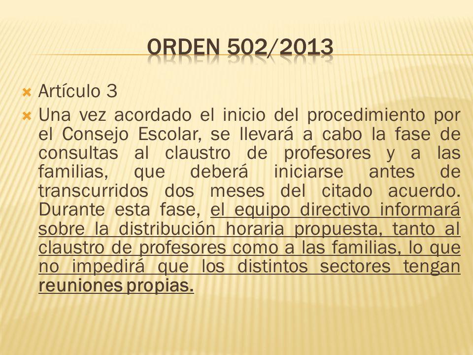 Orden 502/2013 Artículo 3.