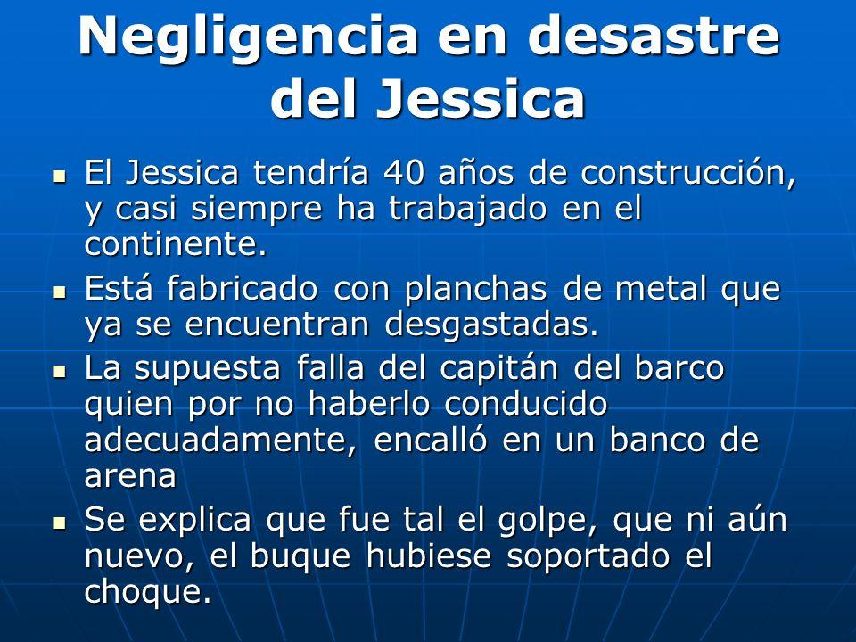 Negligencia en desastre del Jessica