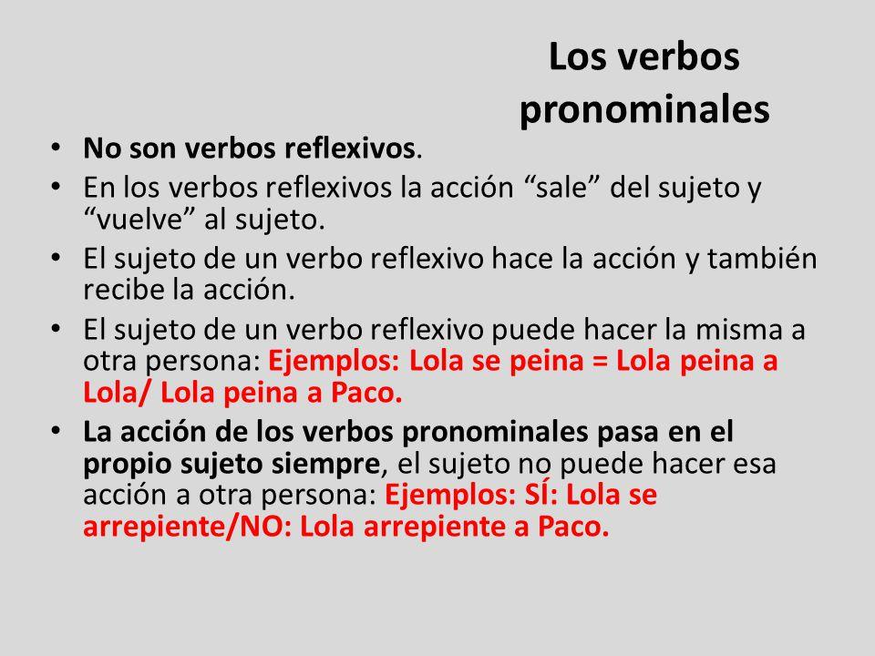Los verbos pronominales