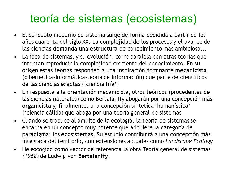 teoría de sistemas (ecosistemas)