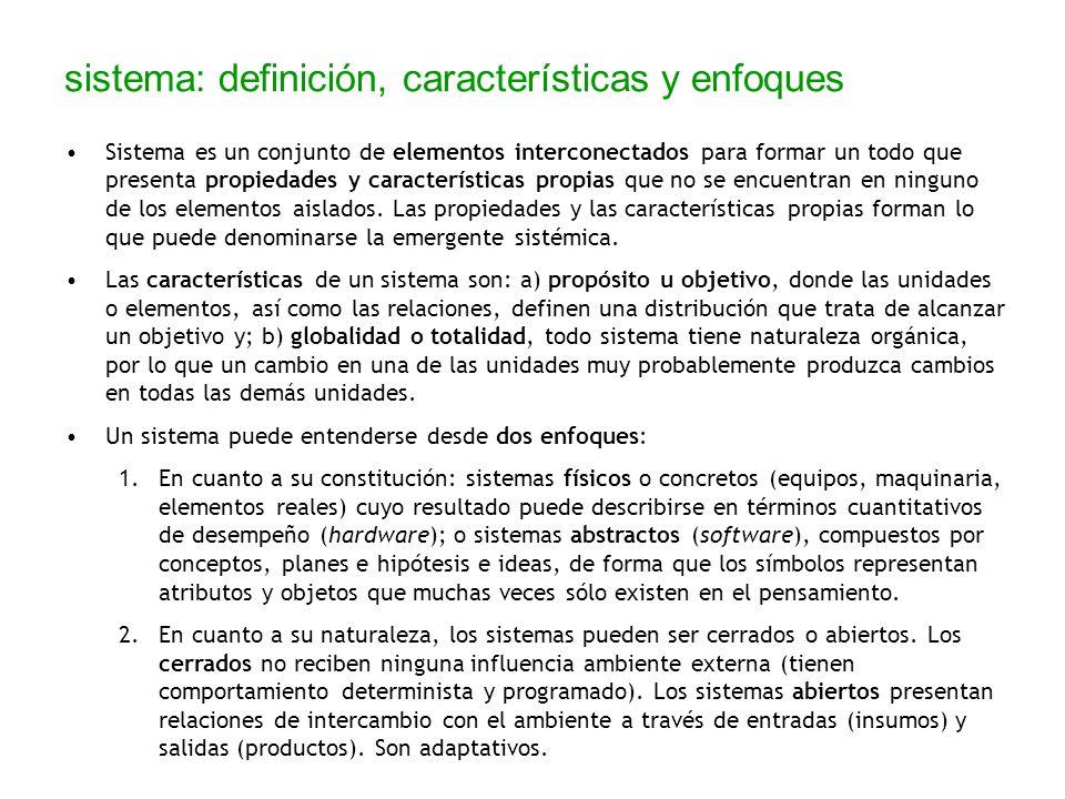 sistema: definición, características y enfoques