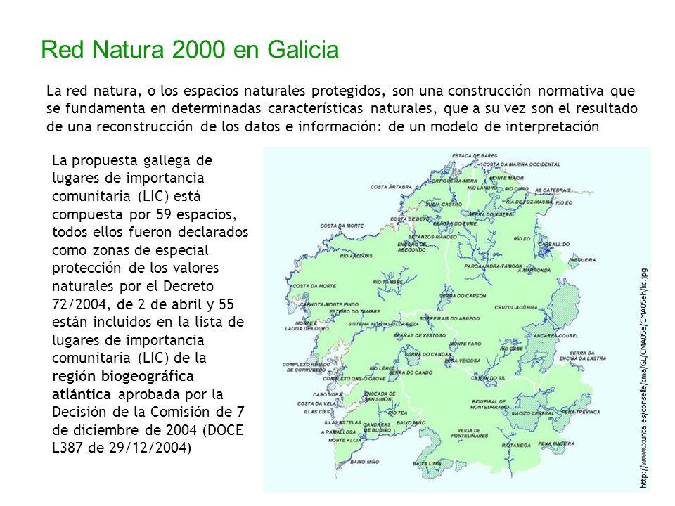Red Natura 2000 en Galicia