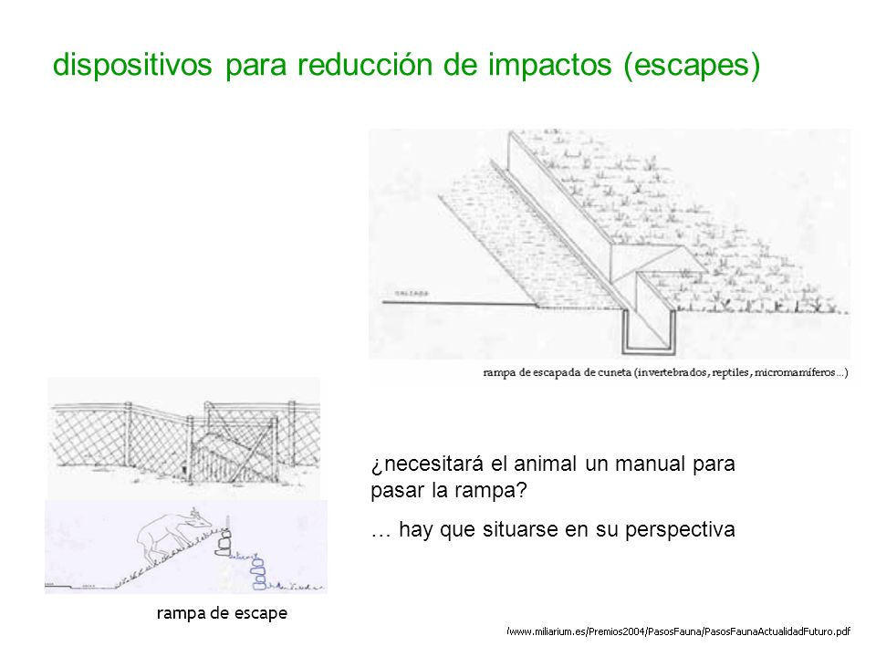 dispositivos para reducción de impactos (escapes)