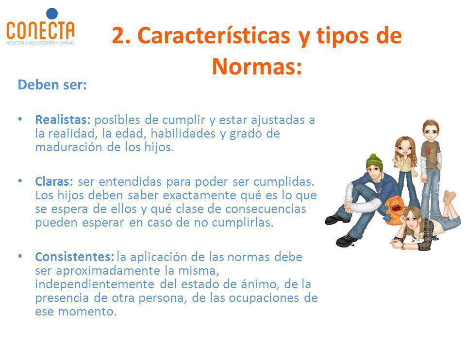2. Características y tipos de Normas: