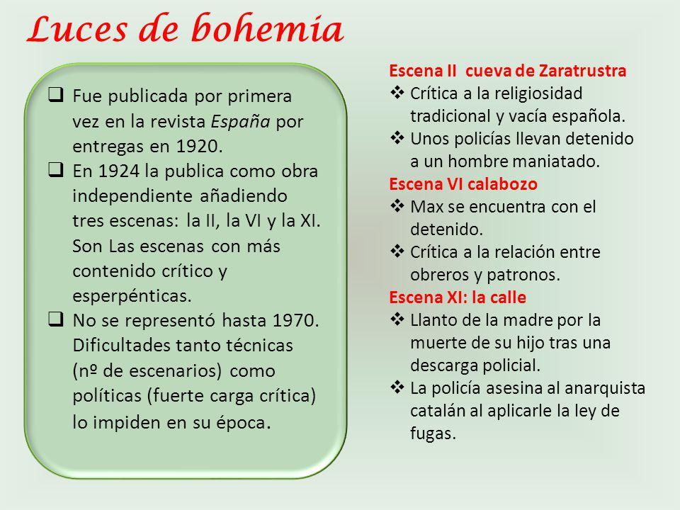 Luces de bohemia Escena II cueva de Zaratrustra. Crítica a la religiosidad tradicional y vacía española.