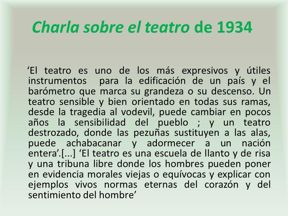 Charla sobre el teatro de 1934