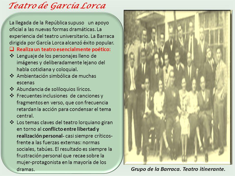 Teatro de García Lorca Grupo de la Barraca. Teatro itinerante.