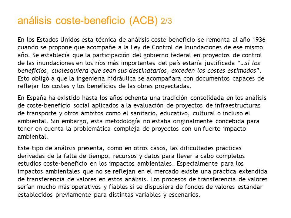 análisis coste-beneficio (ACB) 2/3