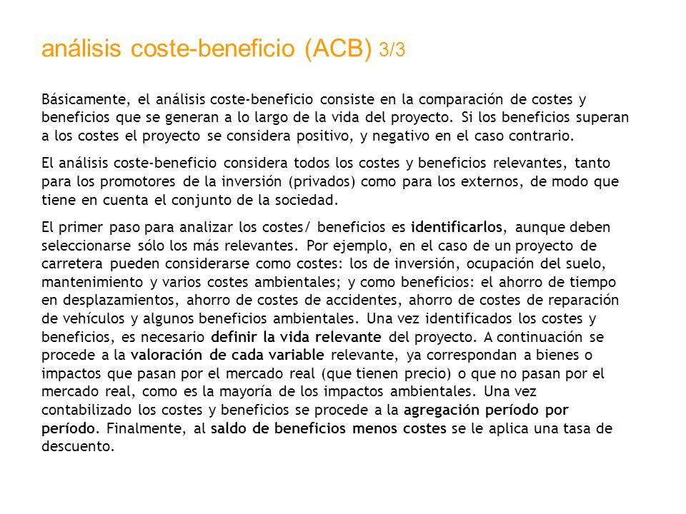 análisis coste-beneficio (ACB) 3/3