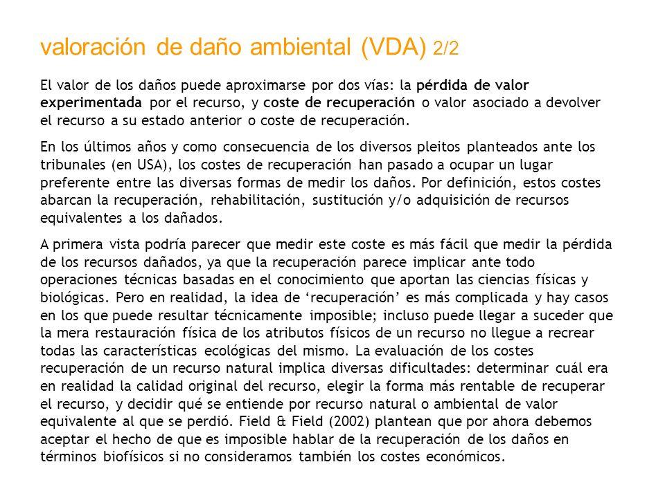 valoración de daño ambiental (VDA) 2/2