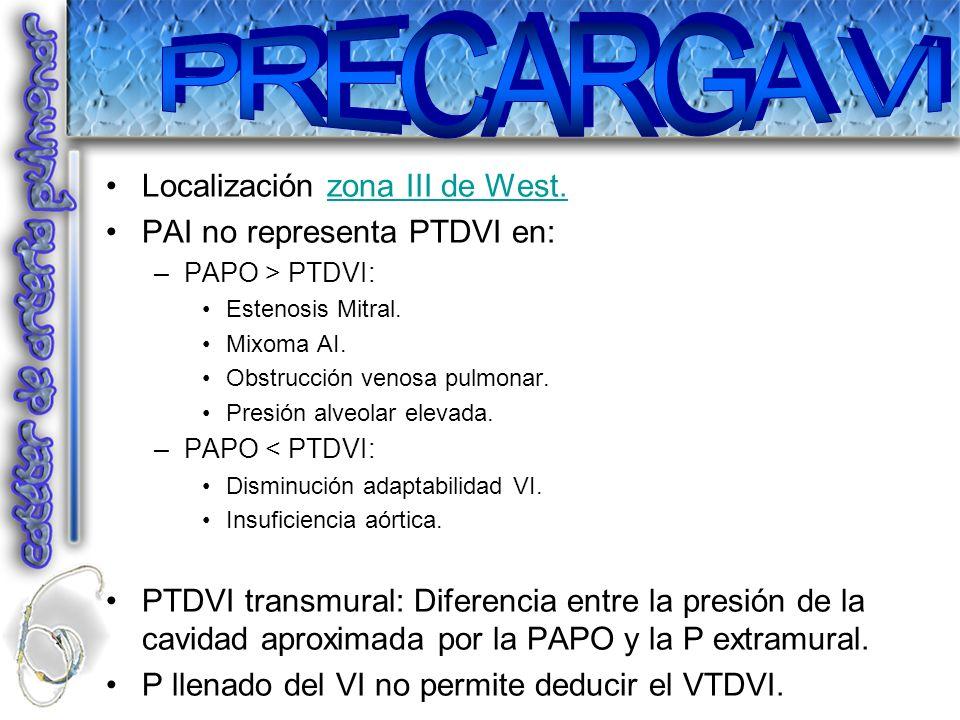 PRECARGA VI Localización zona III de West. PAI no representa PTDVI en: