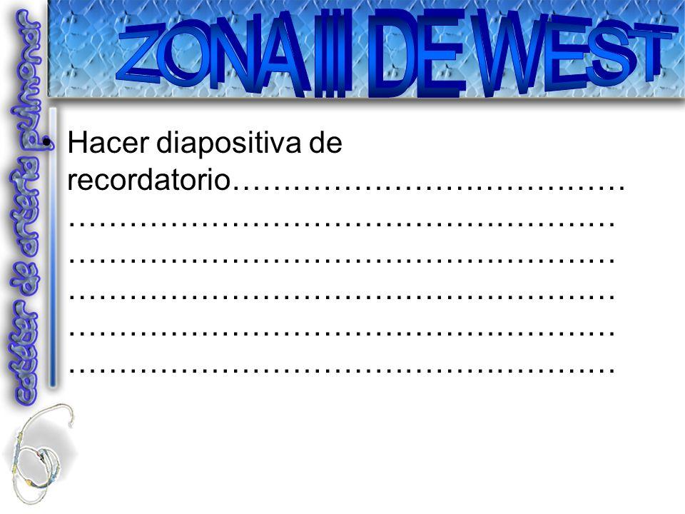 ZONA III DE WEST