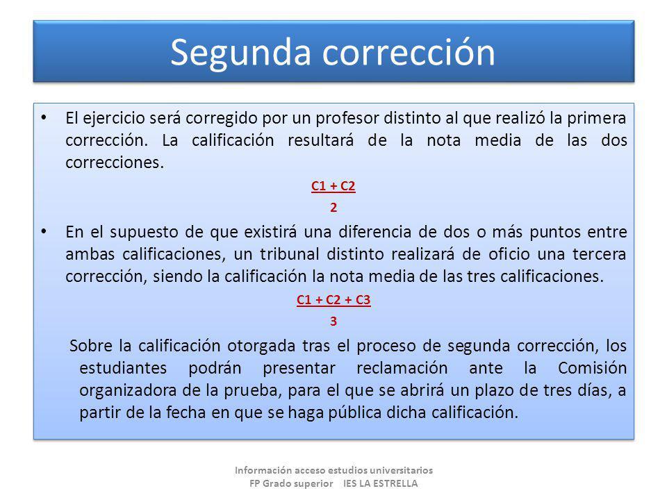 Segunda corrección