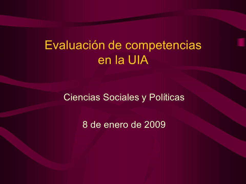 Evaluación de competencias en la UIA