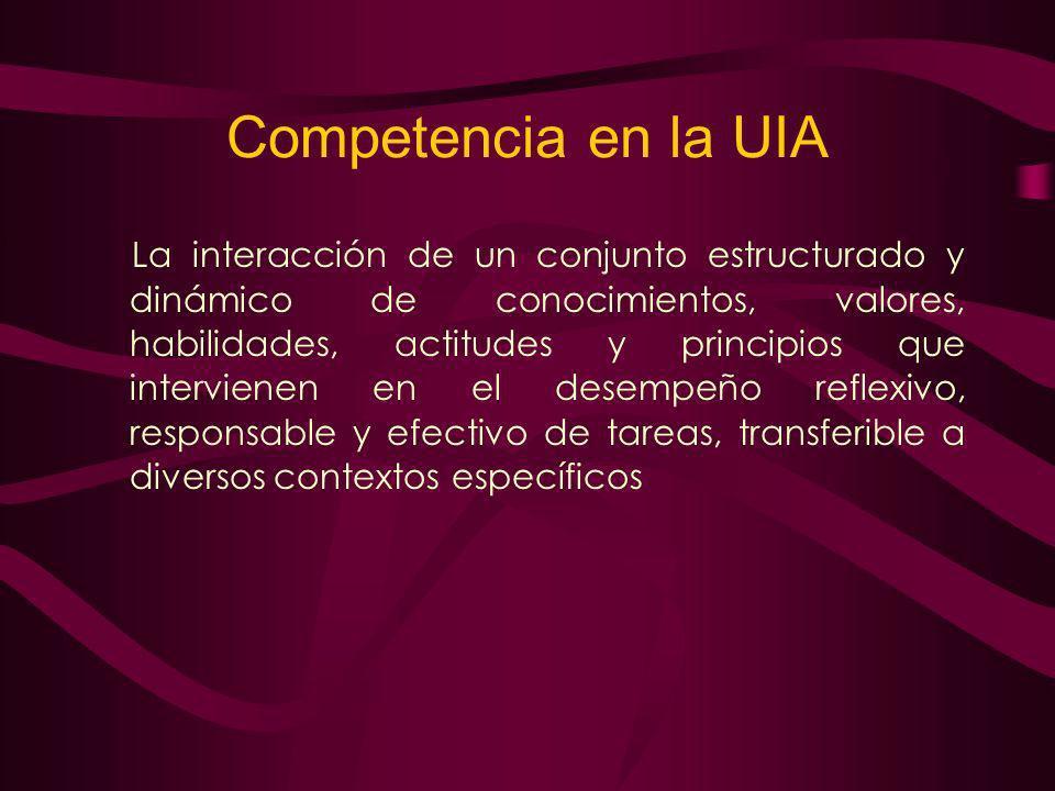 Competencia en la UIA