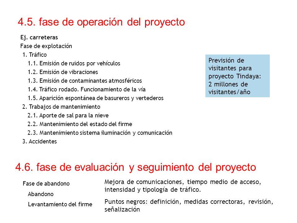 4.5. fase de operación del proyecto