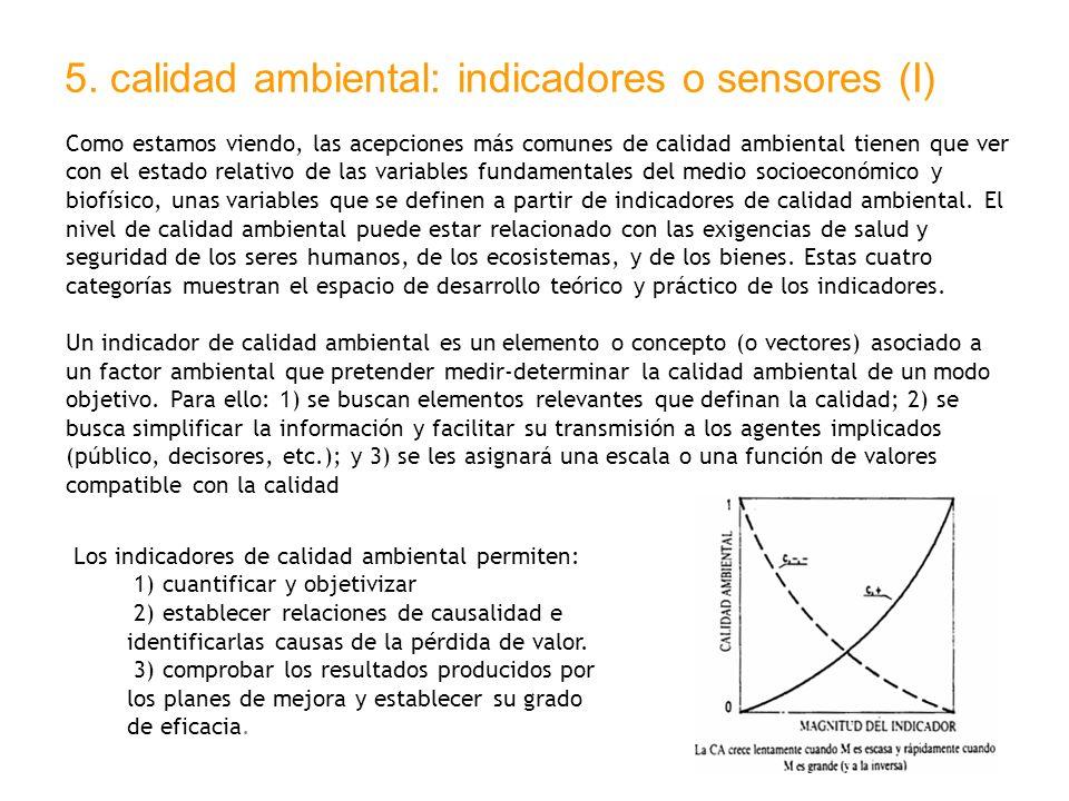 5. calidad ambiental: indicadores o sensores (I)