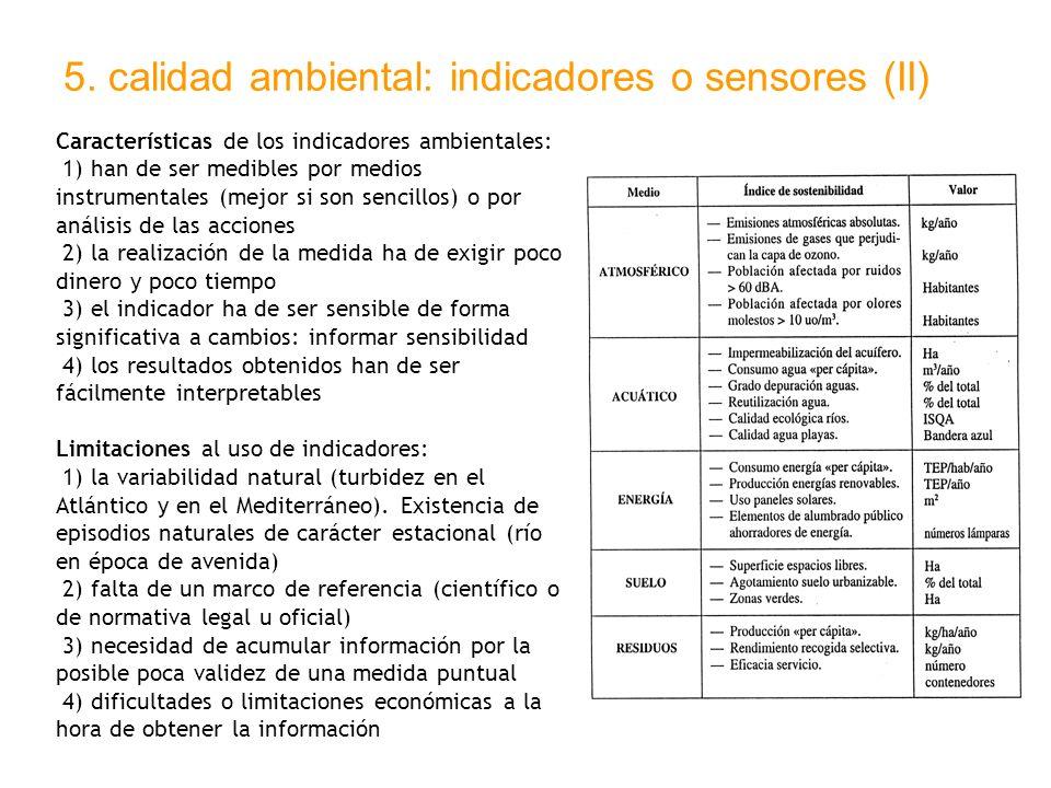 5. calidad ambiental: indicadores o sensores (II)
