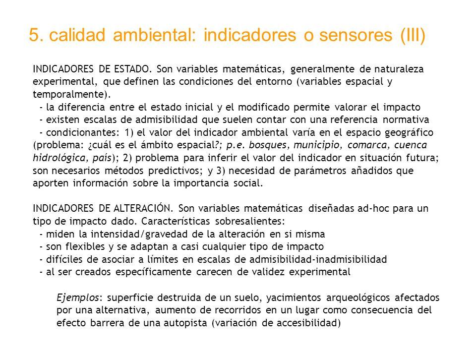 5. calidad ambiental: indicadores o sensores (III)