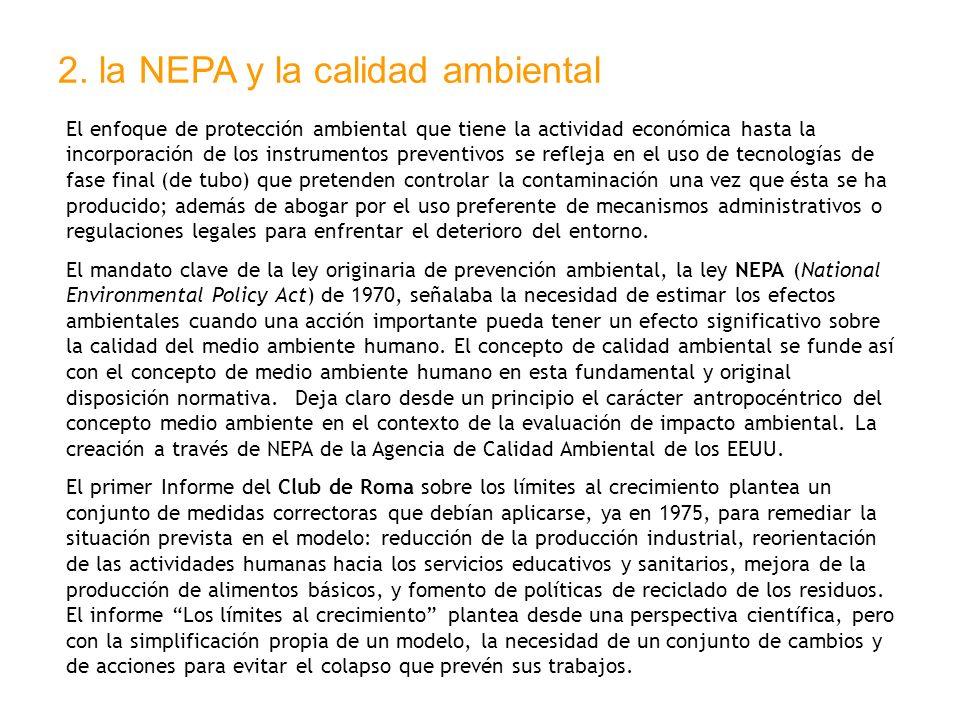 2. la NEPA y la calidad ambiental