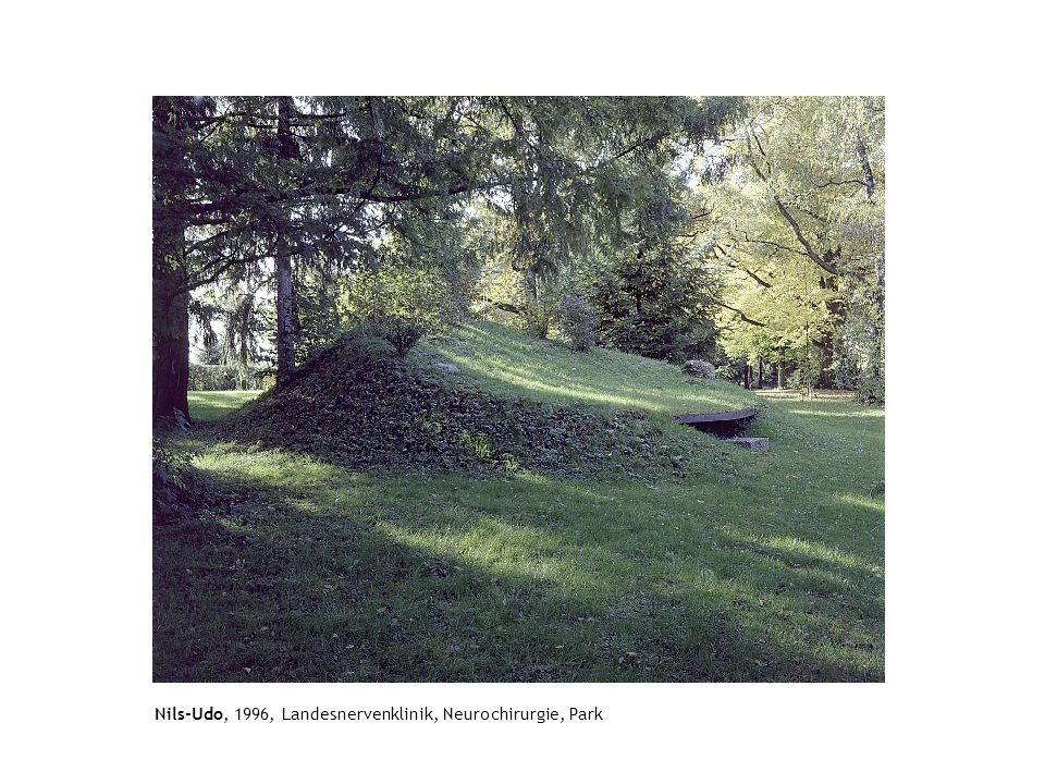 Nils-Udo, 1996, Landesnervenklinik, Neurochirurgie, Park