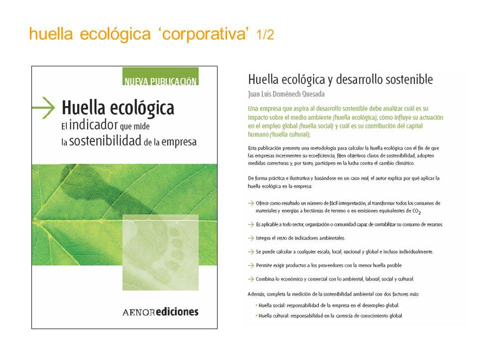 huella ecológica 'corporativa' 1/2