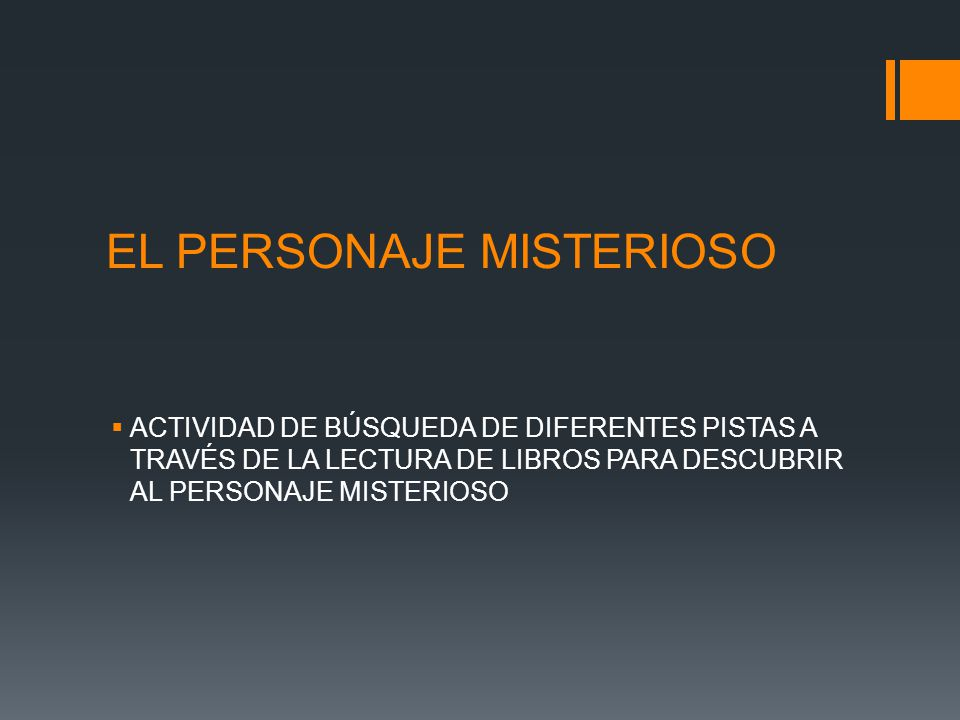 EL PERSONAJE MISTERIOSO