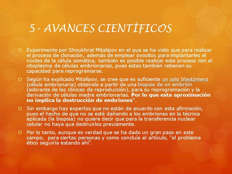 5- AVANCES CIENTÍFICOS