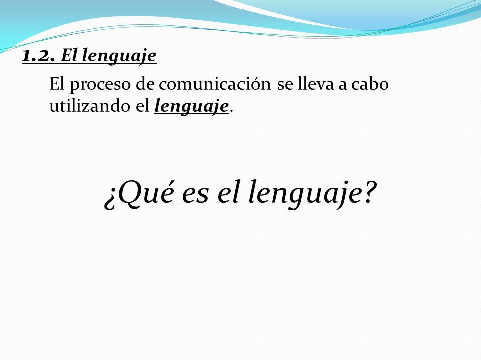 ¿Qué es el lenguaje 1.2. El lenguaje