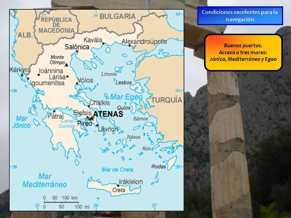 Jónico, Mediterráneo y Egeo