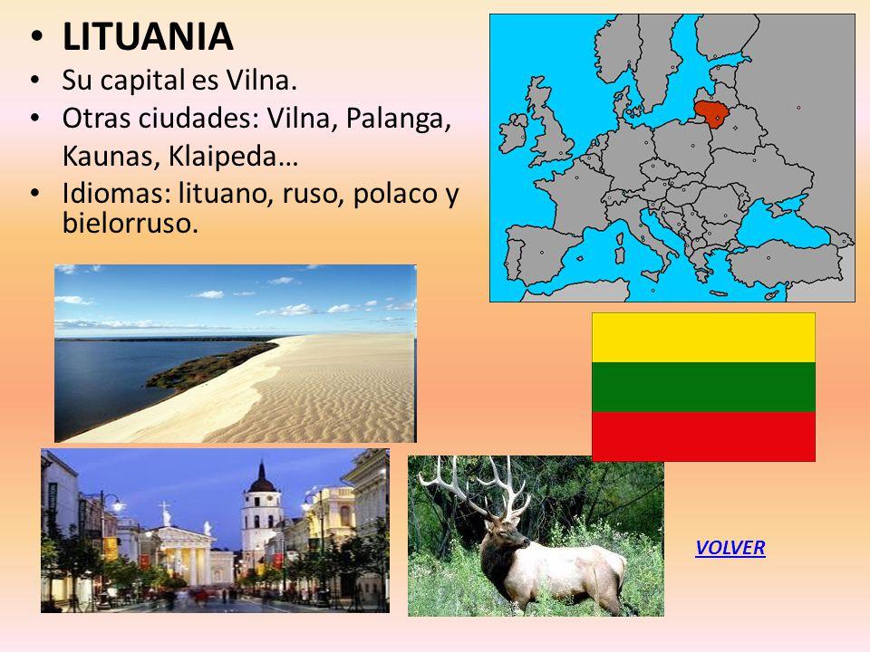 LITUANIA Su capital es Vilna. Otras ciudades: Vilna, Palanga,