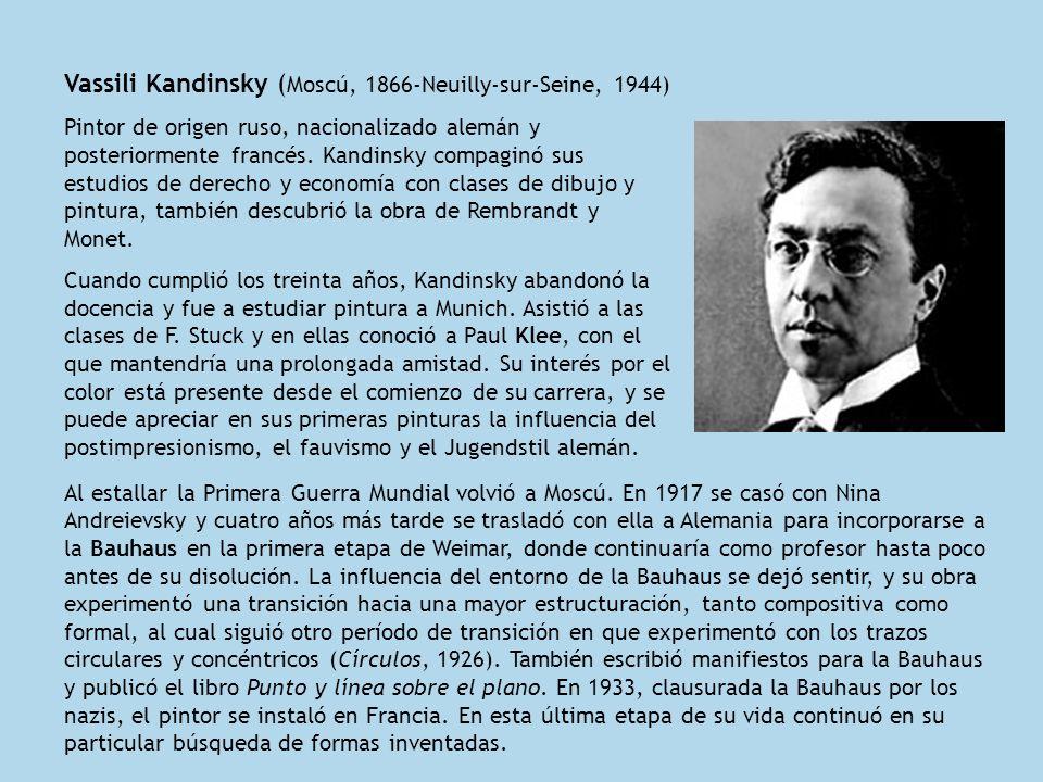 Vassili Kandinsky (Moscú, 1866-Neuilly-sur-Seine, 1944)