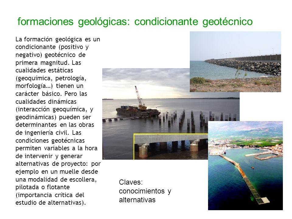 formaciones geológicas: condicionante geotécnico