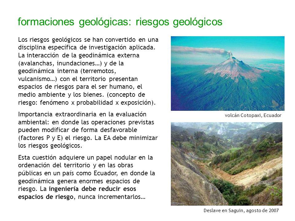 formaciones geológicas: riesgos geológicos