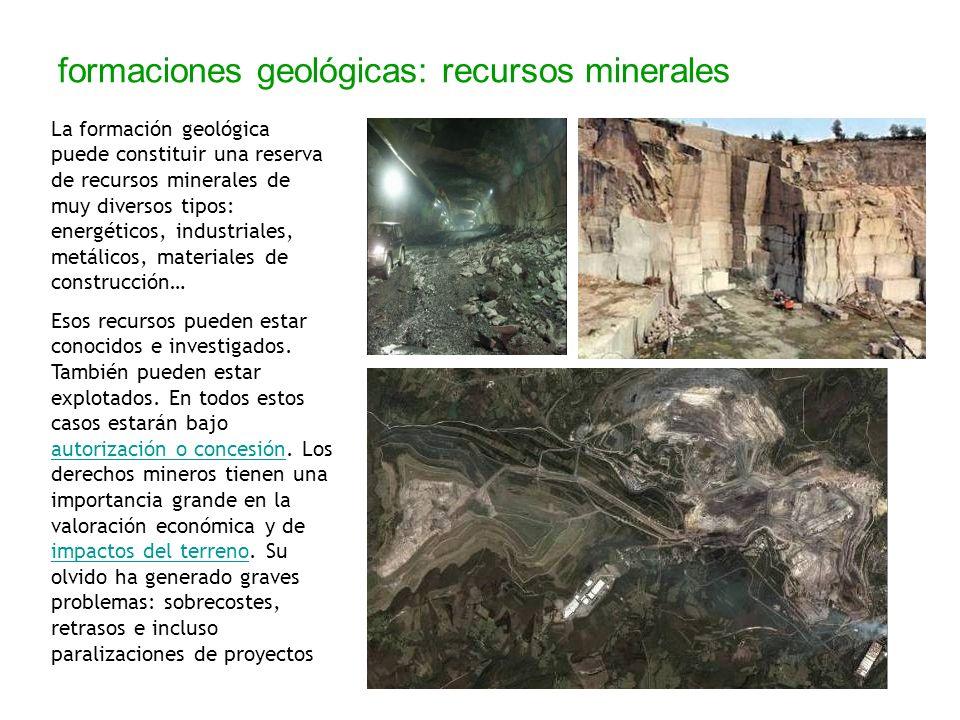 formaciones geológicas: recursos minerales