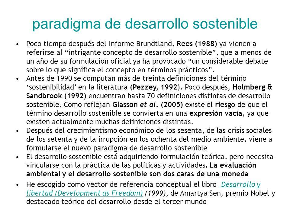 paradigma de desarrollo sostenible